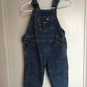 Pink heart Oshkosh overalls
